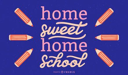 Diseño de letras de la escuela dulce hogar
