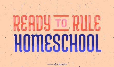 Regla diseño de letras de educación en casa