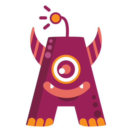 A a letter monster flat Transparent PNG