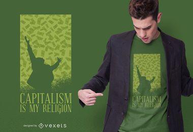 Diseño de camiseta de capitalismo