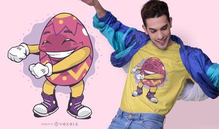 Design de t-shirt de fio dental de ovo de Páscoa