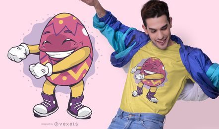 Diseño de camiseta de hilo de huevo de pascua