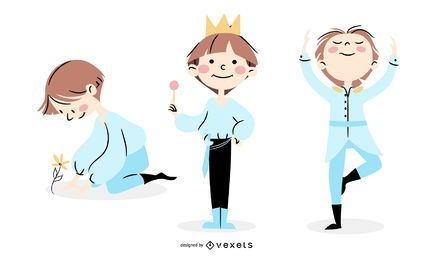 Cute prince character set
