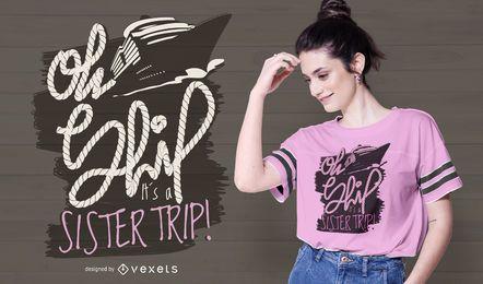 Oh ship t-shirt design
