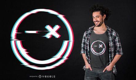 Design de t-shirt de falha de sorriso