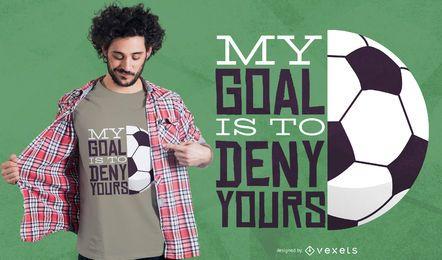 Meu design de t-shirt de futebol objetivo