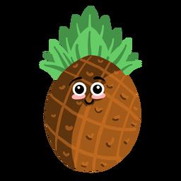 Ananas Ananas flach