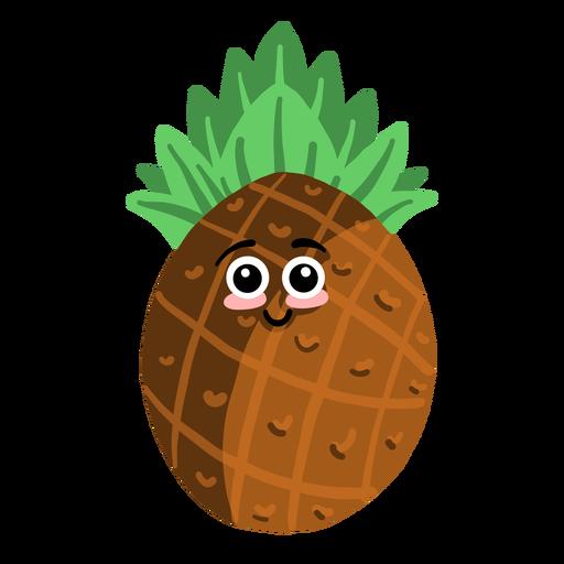 Ananas pineapple flat Transparent PNG