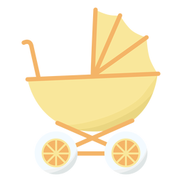 Baby carriage wheel flat