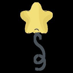 Balloon star string flat