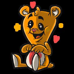 Desenho bonito de urso de pelúcia