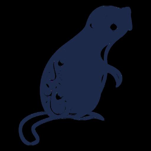 Beaver flower pattern ornament illustration Transparent PNG