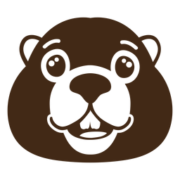 Beaver happy muzzle head flat