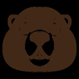 Beaver joyful muzzle head flat