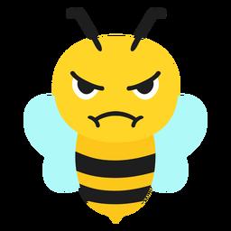 Cabeza de hocico enojado de abeja plana