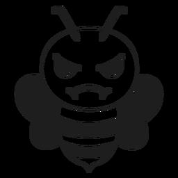 Wütender Mündungskopfanschlag der Biene
