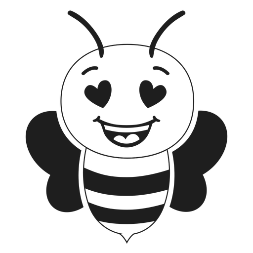 Bee enamoured muzzle head stroke Transparent PNG