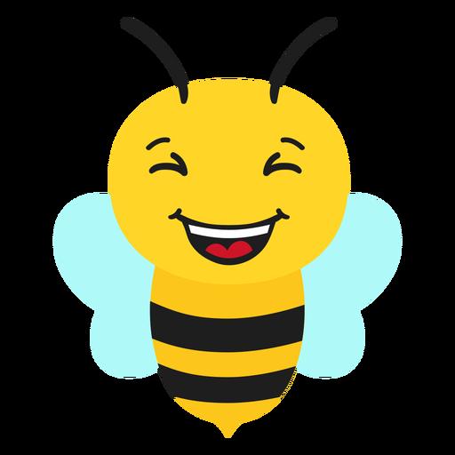 Bee happy muzzle head flat Transparent PNG