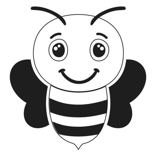 Bee joyful muzzle head stroke
