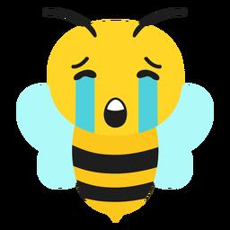 Cabeza de hocico triste de abeja plana