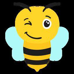 Cabeza de hocico de guiño de abeja plana