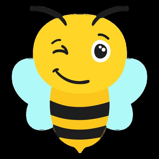 Bee wink muzzle head flat Transparent PNG