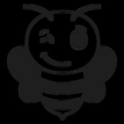 Golpe de cabeza de hocico de guiño de abeja