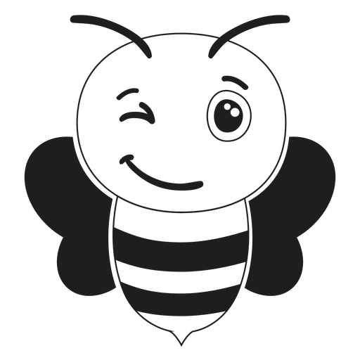 Bee wink muzzle head stroke Transparent PNG