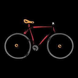 Bosquejo de bicicleta ciclo de bicicleta
