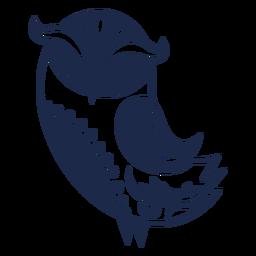 Ilustración de ornamento de patrón de flor de pájaro