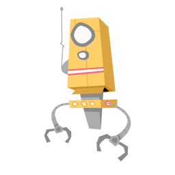 Esboço da antena do olho do robô