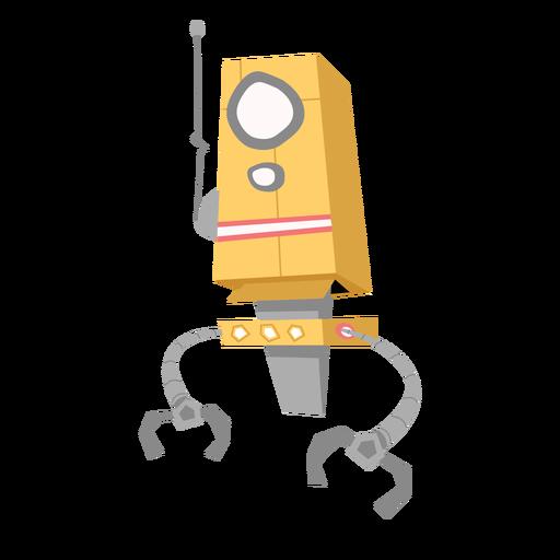 Bosquejo de antena de ojo de robot de caja Transparent PNG