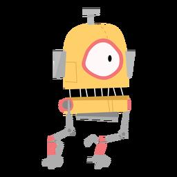 Esboço de olho de robô de caixa