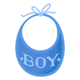 Boy bib flat