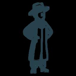 Silueta detallada de sombrero de abrigo judío de niño
