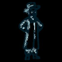 Linha de chapéu de casaco judaico de menino