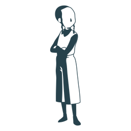 Boy jewish posture detailed silhouette