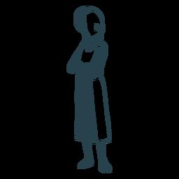 Silhueta detalhada de postura judaica de menino