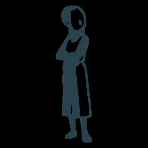 Boy jewish posture detailed silhouette