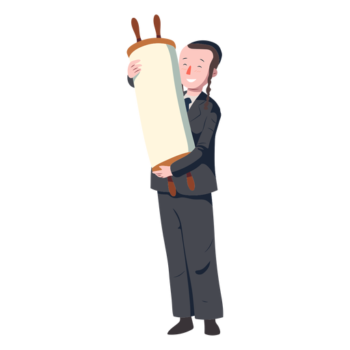 Boy jewish roll scroll flat Transparent PNG