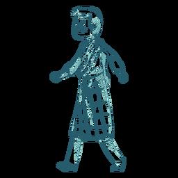 Línea de sporran de falda escocesa de niño