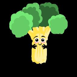 Hoja de brócoli plana