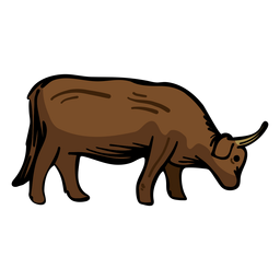 Toro vaca plana
