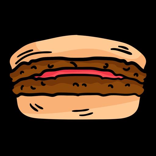 Burger sandwich skech Transparent PNG