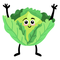 Cabbage leaf flat