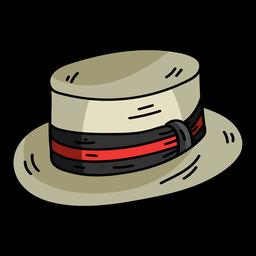 Mütze Hut Zylinder flach