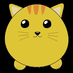 Gato lindo hocico hinchado plano