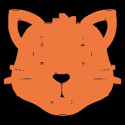 Focinho de cabeça alegre gato plana