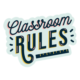 Classroom rules badge sticker