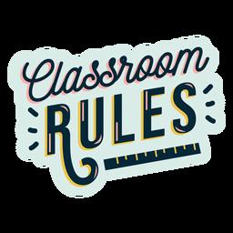 Insignia de reglas de aula